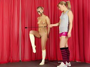 Undressed fitness babe exercised a bdsm way